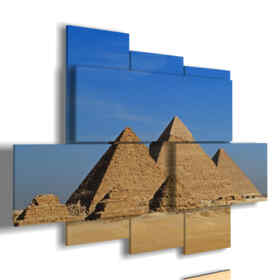tableaux Egypte avec ses pyramides