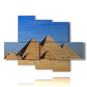paintings Egypt with its pyramids