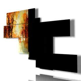 Quadro moderno - India - Taj Mahal 02 - Multipannello e multilivello 3D