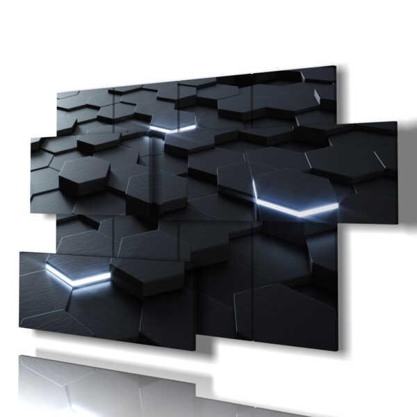 Quadro moderno - Lago Cavell - Multipannello e multilivello 3D