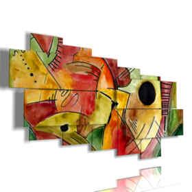 Quadro moderno - Cane 04 - Multipannello e multilivello 3D