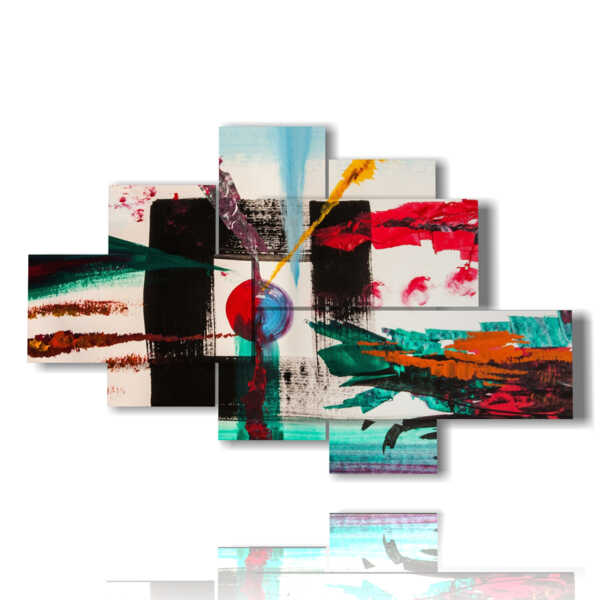 cuadros efecto de cuadro de colores