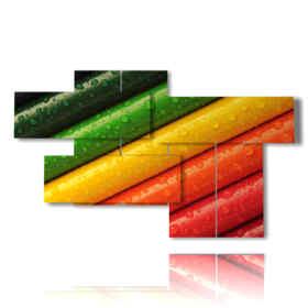 tableaux modernes maison avec des crayons de couleur