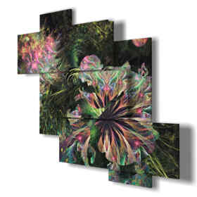 Printed picture - Abstract 30 - Multipanel and multilevel 3D. Large size