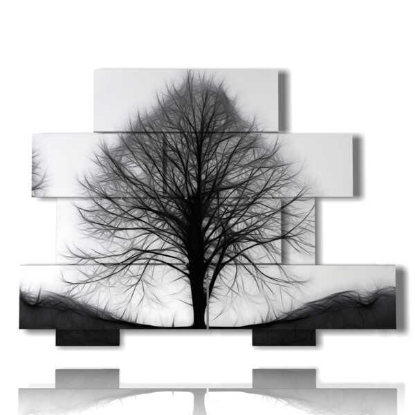 esqueleto de árbol en cuadros abstractas contemporáneas