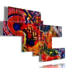 cuadro moderno con rojo y azul
