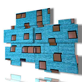 Printed picture - Sensual 16 - Multipanel and multilevel 3D. Large size