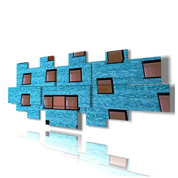 Quadro moderno - Caraibi - Grande Voragine Blu - centro
