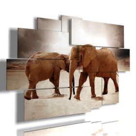 marrón elefantes de cuadros