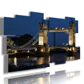 quadro con foto di Londra di notte Tower Bridge