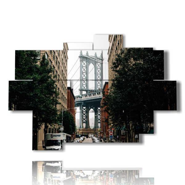 cuadros de cuadros de Nueva York a las calles del centro