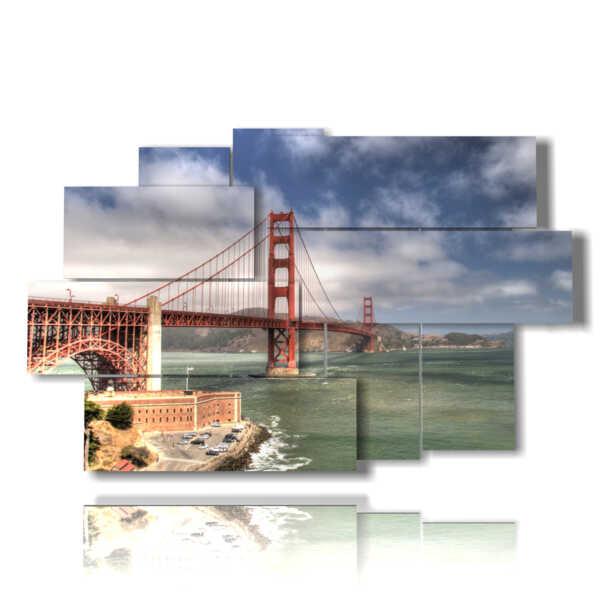 Photo San Francisco Golden Gate daytime painting