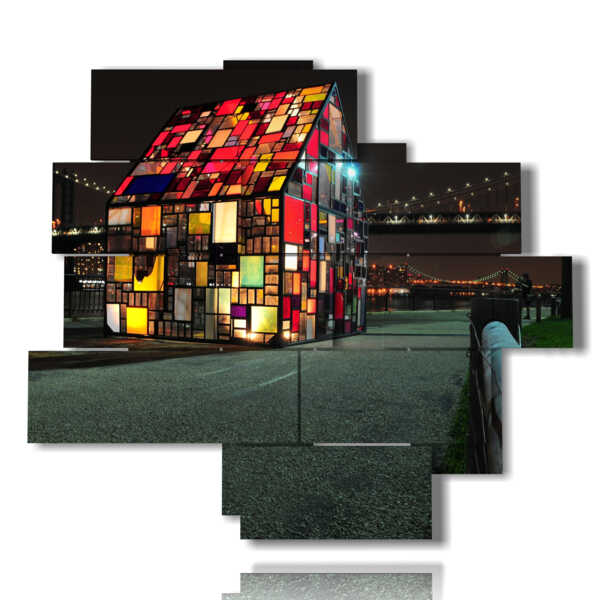 quadri astratti città Manhattan