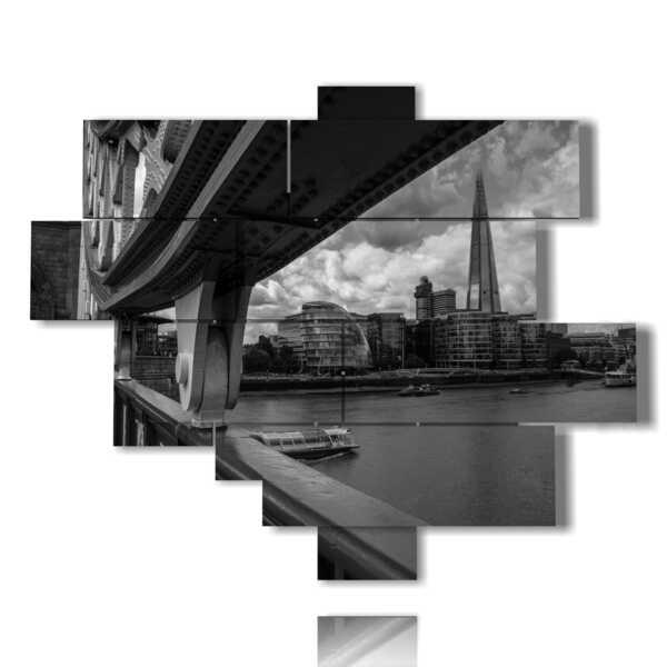 quadro con foto attrazioni londra