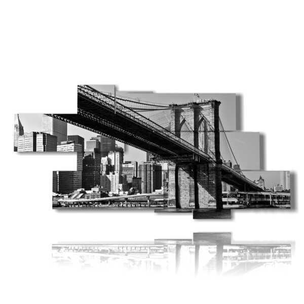 NY tableaux en noir et blanc