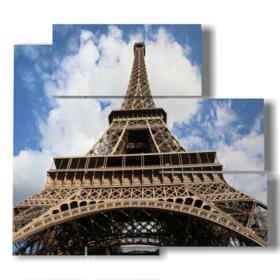 quadro con stampe Parigi vista dai piedi della Torre Eiffel
