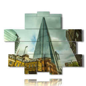 Modern picture with photos in London