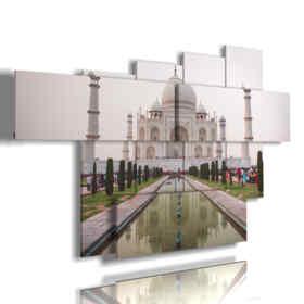 quadro india andando verso il Taj Mahal