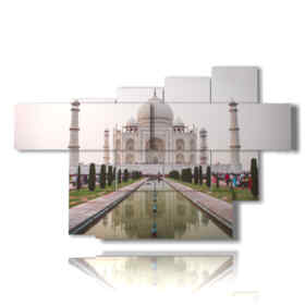 painting india going to the Taj Mahal