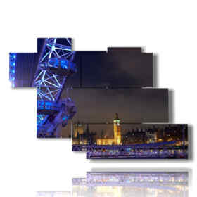 Modern picture with London photos at night