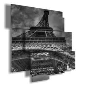 Paris famous paintings black and white Eiffel Tower