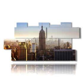Modern picture of New York top view