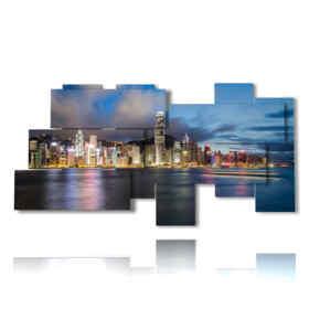 foto palazzi Hong Kong dal mare in un quadro meraviglioso
