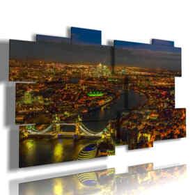 tableaux de lumières avec la photo du soir Londres
