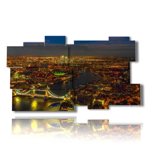 cuadro de las luces con la foto de la noche de Londres