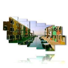 Tableaux modernes célèbre Venise à Burano