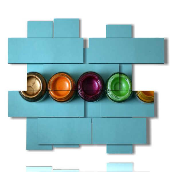 quadro moderno astratto di colori