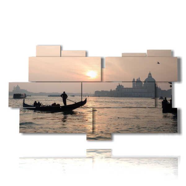 tableaux lagune de Venise au coucher du soleil