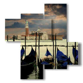 paintings with Venice after a storm