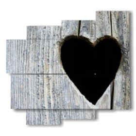 tableaux coeur noir