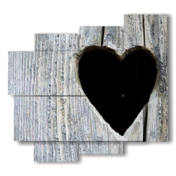 quadro cuore nero