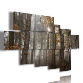 paintings trees in bare winter forest