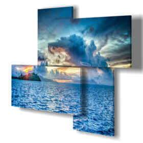 Printed picture - New York 02 - Multipanel and multilevel 3D. Large size