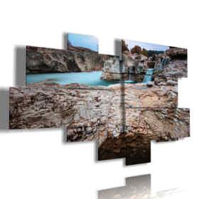 cuadros de paisajes en las piedras