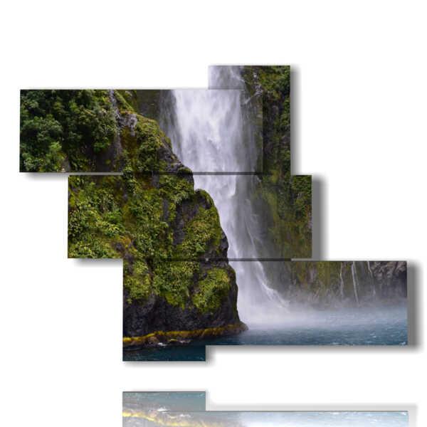 quadro cascata di montagna