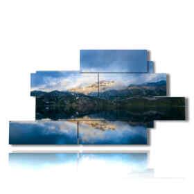 tableaux de montagnes et le lac