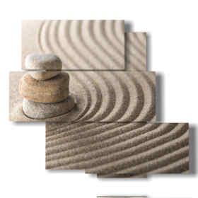quadri con sabbia in linee di relax