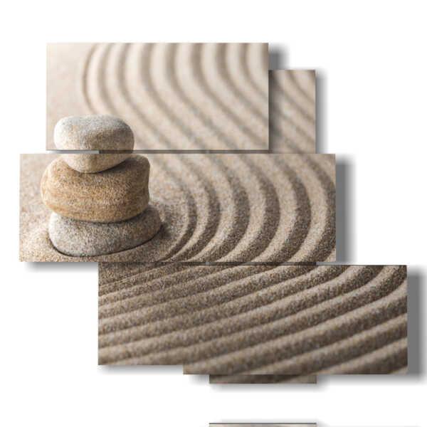 cuadros con arena en las líneas de relajación