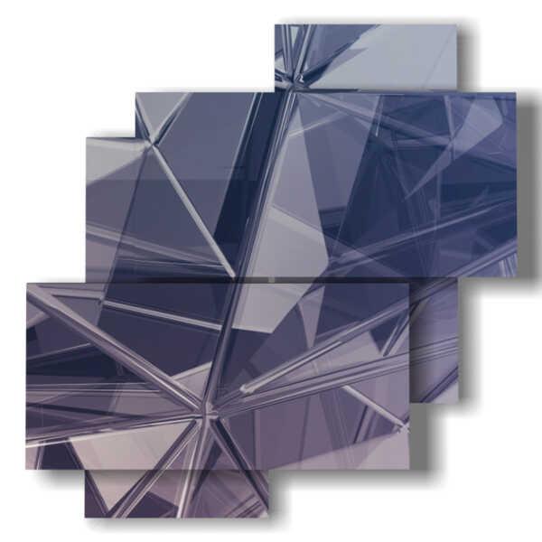 tableaux abstraites miroirs