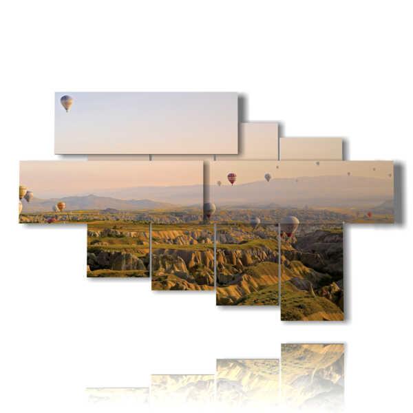 quadri mongolfiere in volo