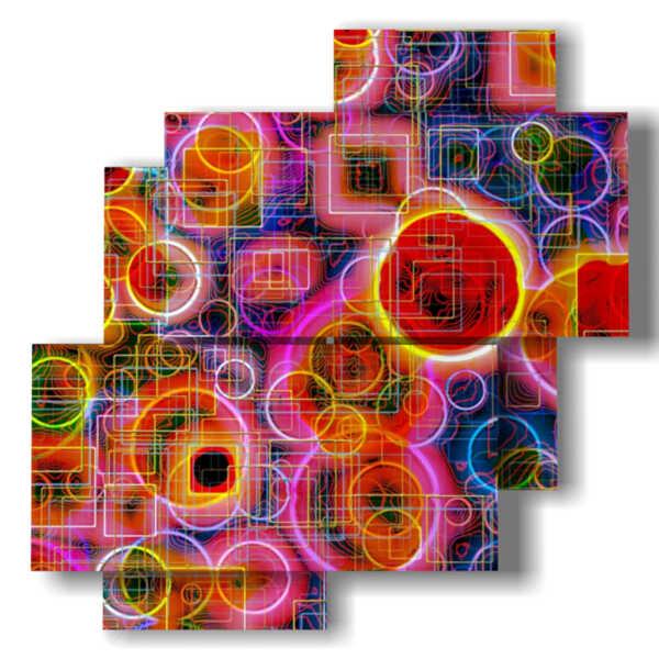 sphères colorées en tableaux abstraites pour les tableaux
