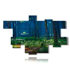 quadro albero astratto in un viale magico