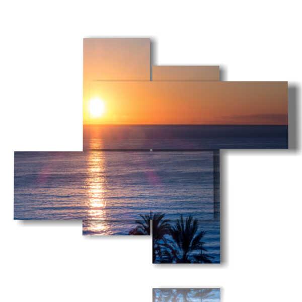 quadri di tramonti in una sera d'estate