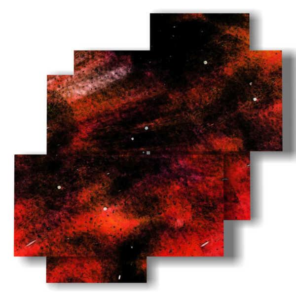 Bilder der roten abstrakten modernen Bildern