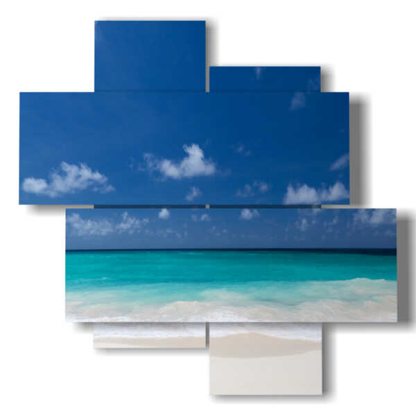 painting of the flat sea