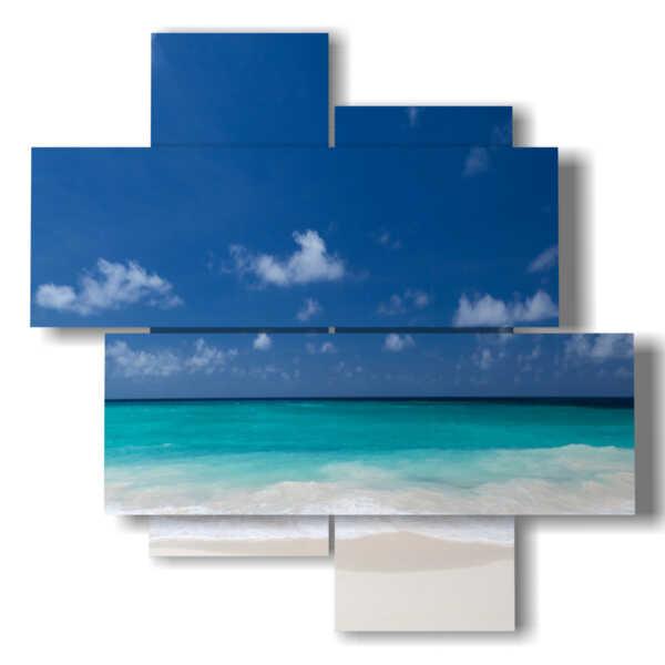 quadro raffigurante il mare piatto